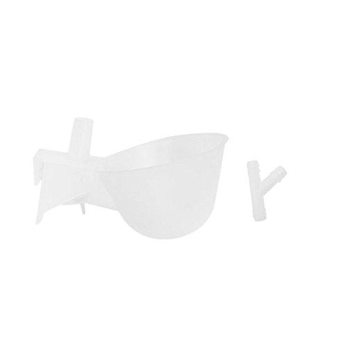 Automático aves de corral pollo aves de corral agua bebedor taza de plástico Beber Bowl automático aves de corral Waterer con cubierta