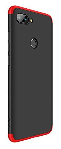 Tianqin Funda Xiaomi Mi 8 Lite Ultra Delgado Todo Incluido Caja 3 en 1 Case Bumper Protective Anti-Shock Carcasa Case Dura Slim Fit para Xiaomi Mi 8 Lite - Negro Rojo