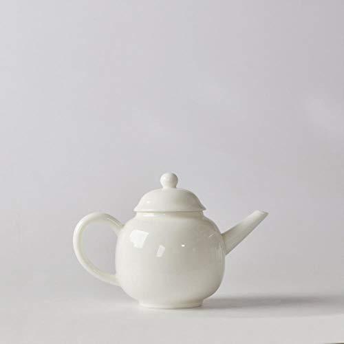 SXCYU Tetera de Porcelana Blanca Tetera China de Kung Fu Juego de té pigmentado Hecho a Mano Tetera de Esmalte de cerámica Tetera, B