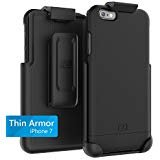 Encased Thin Armor iPhone 7 Belt Case, Hybrid Shell w/Reinforced Secure-fit Holster Clip (Jet Black)