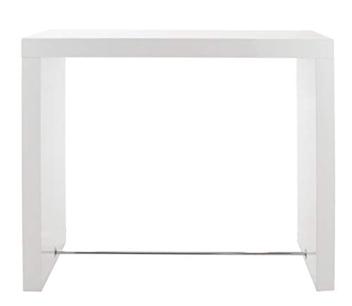 24Designs Hoge Eettafel Bartafel Cube - B130 X D60 X H105 Cm - Wit Hoogglans