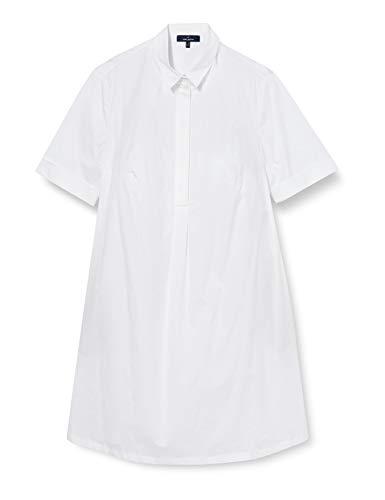 Daniel Hechter Damen Blouse Dress Kleid, Weiß (White 10), (Herstellergröße: 34)
