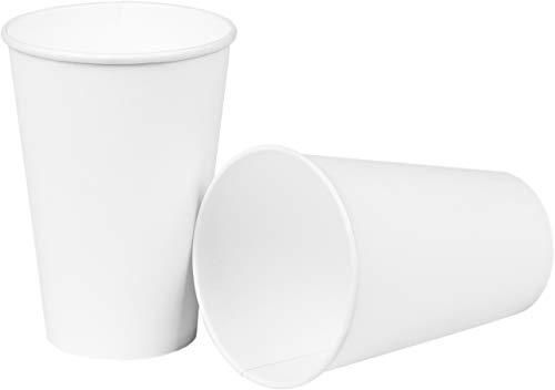 HEKU 30903: 50 Pappbecher, weiß, 0,2l, Frischfaser mit Beschichtung,