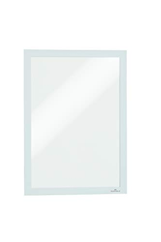 Durable 487202 Info-Rahmen Duraframe (A4, selbstklebend mit Magnetverschluss) 2 Stück Weiß