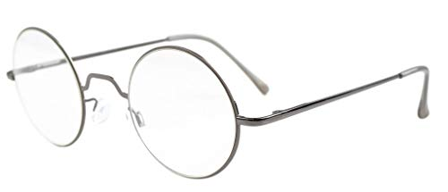 Eyekepper ronde leesbril met veerscharnieren (+0,00, roodgietijzer)