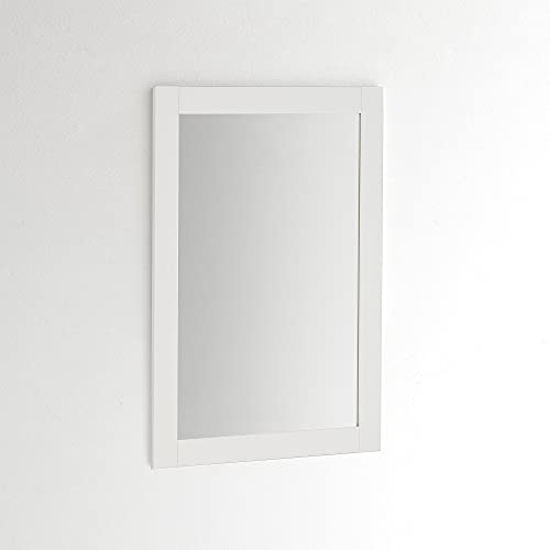 ARHome Specchio da Parete, S01, 70 x 50, Bianco, Made in Italy