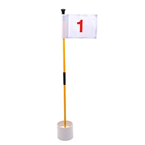 KINGTOP Golf Flags for Yard, Putting Green Pin Flags, Portable Golf Flagsticks with Hole Cup Set, 3 feet, Gifts, Thanksgiving, Halloween, Family, Children, Kids