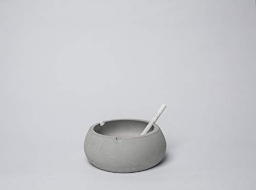 Best Deals! crio Concrete Designer Ashtray for Home/Office use Indoor/Outdoor/Smoker Gifts/Smoking A...