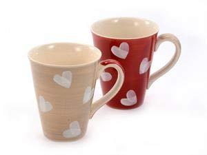 Cha Cult Becher Corazon Keramik, 2 Fach 0,3 l = Zwei Tassen