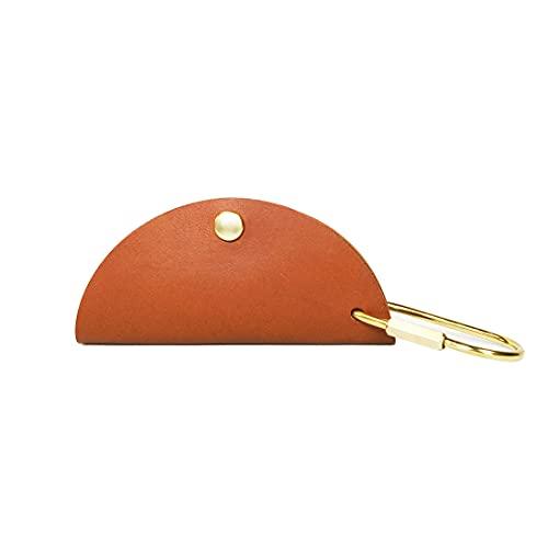 完全手作り 手縫い仕上げ キーケース レザー 本革 キーチェーン 真鍮 革 コンパクト スリム 月の形キーケースレディース メンズ キーケース…