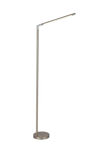 O&S Free Standing LED Floor Lamp Light , 3 Colour Temperatures & Dimmable Brightness Level - Floor Lamps for Reading Living Room Study Modern Silver