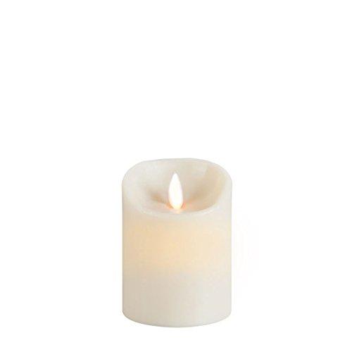 sompex Flame Echtwachs LED Kerze, fernbedienbar, Elfenbein - in verschiedenen Größen, Höhe:10 cm