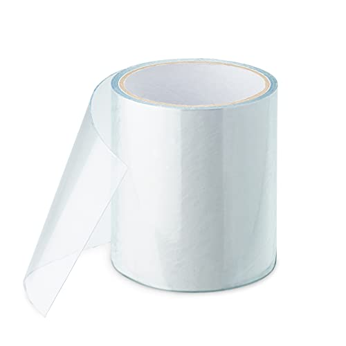 FALINGO Cinta adhesiva sumergible para reparación de piscinas, tiendas de campaña, lonas, canalones, barcos hinchables, 10 cm x 150 cm, transparente