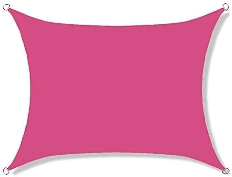 SYGoodBUY Toldo rectangular impermeable para toldo 98% con bloque UV, para patio de jardín al aire libre, con accesorios de montaje (color opcional) (color rojo rosa, tamaño: 2 x 5 m)