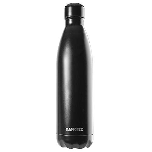 Garrafa Térmica Aço Inox Squeeze Fitness 750ml Fosco Yangfit