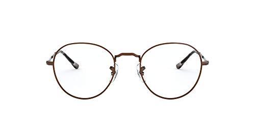 Ray-Ban Round Metal II Gafas de lectura, Braun, 49 Unisex Adulto