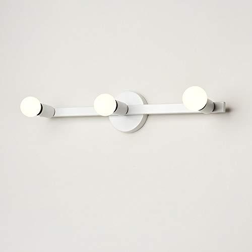 JIAYUAN Spiegellamp, badkamerspiegel, LED-badkamerspiegel, binnenverlichting, metaal voor badkamer/keuken, make-uptafellamp op spiegel, accessoires, badverlichting, incl. lampen, 3 maten