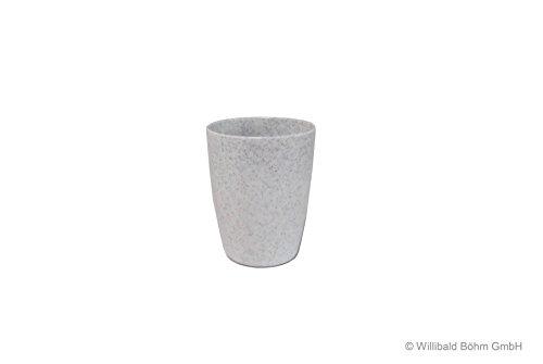 Zahnputzbecher, granit-weiß gesprenkelt, Sonja-PLASTIC, Made in Germany