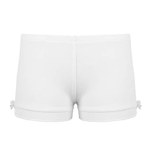 ranrann Pantalones Cortos Deportivos de Gimnasia para Niñas Suave Shorts Deportivos de Yoga Danza Color Sólido Elástico Ropa Deporte Baile Fitness Workout