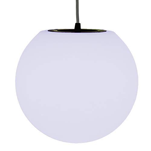 PK Green Lampe Suspension Salon, Sphère 20cm, LED E27 Blanc