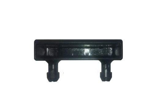 Soportes para listones de cama de barras laterales,pack de 10 unidades, metal, negro, 63 mm