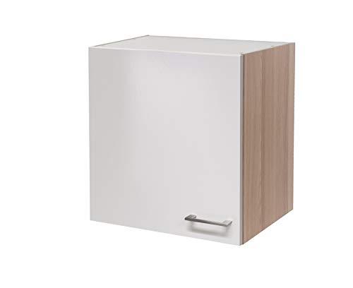 MMR Hängeschrank Küche DERRY, Küchenschrank, 1-türig, 60 cm breit, wechselseitig montierbare Tür, verstellbarer Einlegeboden, Perlmutt Weiß