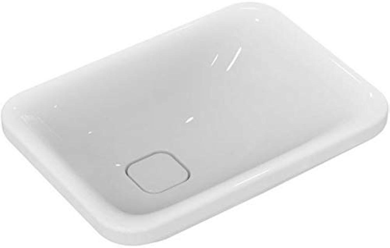 Ideal Standard Schale Tonic II, asymmetrisch, ohne Hahnloch 550x400x150mm, Wei mit Ideal Plus, K0833MA