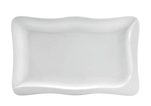 CreaTable - GOURMET - Platte 37 cm aus Porzellan/Servierplatte/Fondueplatte