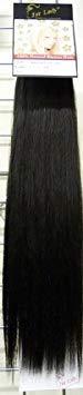 1 ST Lady lisse et soyeux Naturel européen Trame humain extension de cheveux avec Premium Mélange Tissage, numéro 1b, Off Noir, 50,8 cm