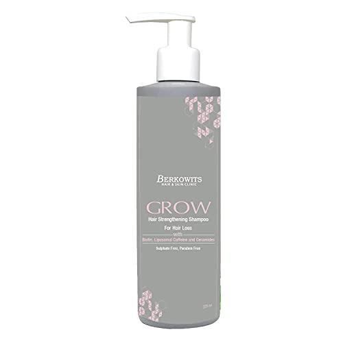 Glamorous Hub Berkowits Hair & Skin Clinics Champú fortalecedor del cabello con biotina sin sulfato y parabenos para la caída del cabello, 225 ml