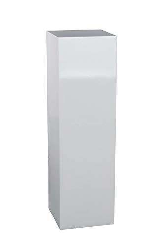 Vivanno Podest Säule Blumensäule Dekosäule Blumenständer Fiberglas weiß - 100x30x30 cm