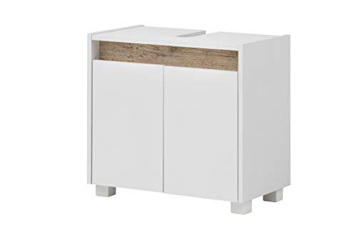 Schildmeyer Waschbeckenunterschrank 146316 Cosmo, 57 x 54,5 x 33 cm (BxHxT), weiß