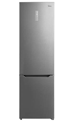 Midea Ideal MB468A3 - Frigorífico Combi Inox A+++ - No Frost - Libre Instalación - Frigorífico de Gran Capacidad 240 L + 76 L Congelador - Alto: 2m - Ancho: 59.5 cm