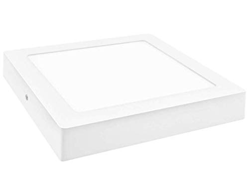 Led Atomant 1x Panel Cuadrado superficie 18 W. Color blanco frio 6500K. Downlight Led, 1600 lumenes reales, 230x230mm