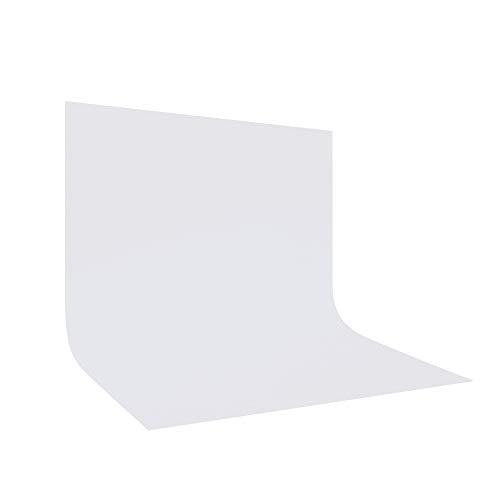 UTEBIT Fotografie Hintergrund Weiß 10x10FT / 3x3m Faltbare Fotostudio Kamera Hintergrundstoff 100% Reines Polyester Background White für Hintergrundstand,Foto-Videofotografie und TV (weiß)