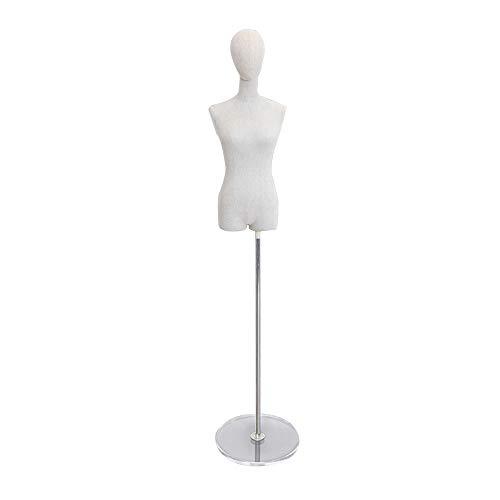 JIAYING Percheros Maniquí ajustable desmontable maniquí femenino del maniquí torso del cuerpo,...