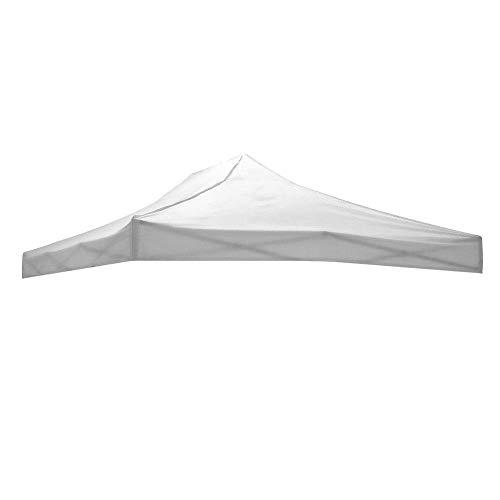 Cilvani Tetto Ricambio Gazebo richiudibile 3x4,5mt Tessuto Impermeabile Bianco O Verde (Bianco 3x4.5)