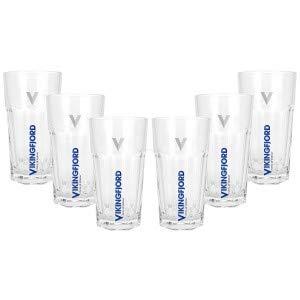 Vikingfjord Vodka Cocktail Longdrink Glas Gläser Set - 6X Longdrinkgläser 2/4cl geeicht