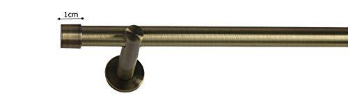 Sento 19mm Metall Gardinenstange Vorhangstange 1-läufig Messing Antik Modern Zoya 180 cm