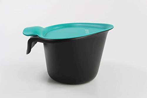 Tupperware Küchenhelfer Tischmüll Adretto 2,5 L schwarz-türkis Bio Alles in Reinen