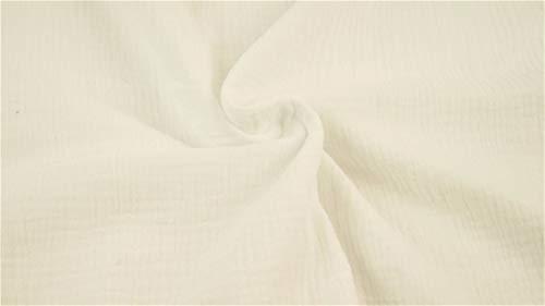 Minerva Crafts Mullstoff, knitterfrei, Meterware, Weiß