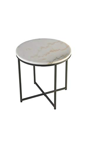 CAMINO A CASA - Table d'appoint Plateau Rond marbre Reef 60 cm