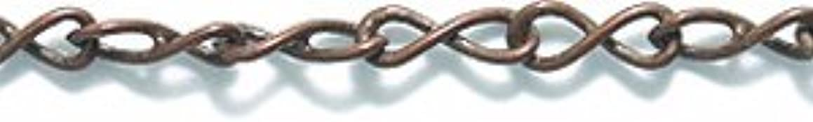 Shipwreck Beads Electroplated Brass Figure Eight Link Chain, 2mm, Metallic, Antique Copper, 6-Feet, Unfinished