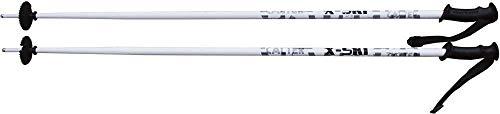 CALTER X X-Ski Racchette da Sci Alpino, Unisex, X-Ski Bergab Skistöcke, Bianco, 100 Centimetri