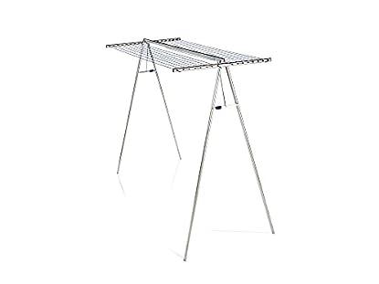Foto di Leifheit Linomaxx 320 Stendibiancheria verticale 32 m, Stendino alto in alluminio e plastica antiruggine, Stendino verticale versatile alto 1,80 m
