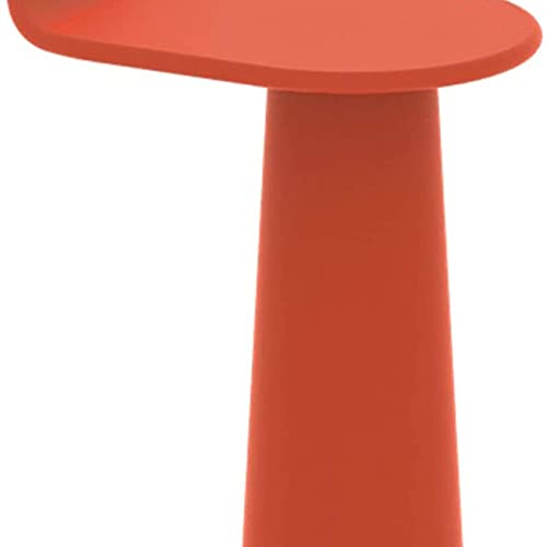 Mesa auxiliar del sofá, Mesas de café Mesa de personalización Mesa lateral 22.8'H Muebles de decoración Casa Sala de estar Balcón Tablas de mesa (Color: Rojo) , Mesa auxiliar para sala de estar