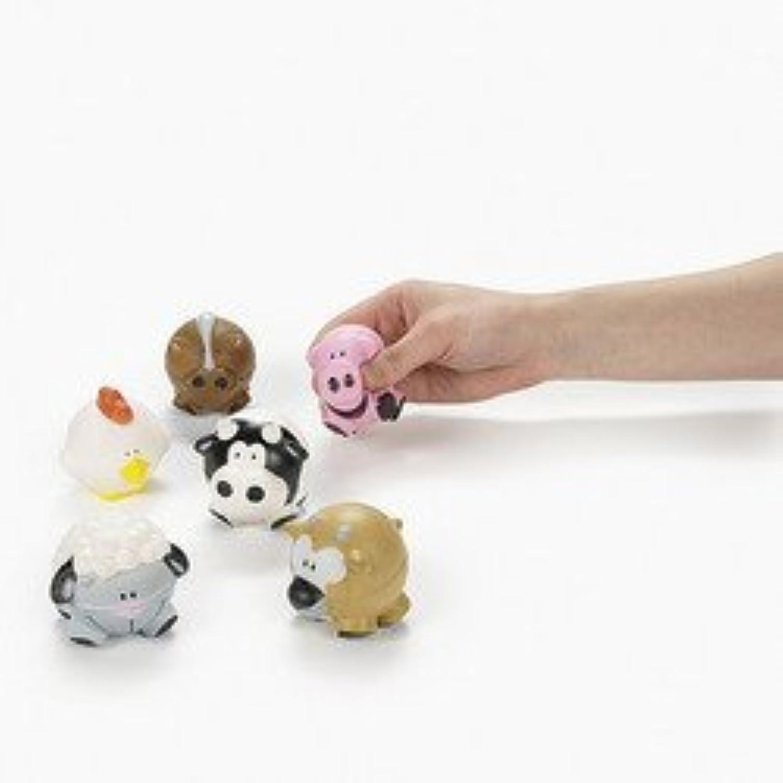 12 Farm AnimalShaped Relaxable Balls