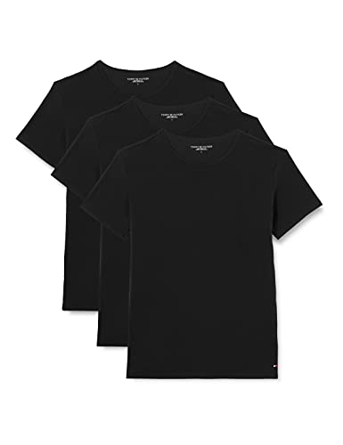 Tommy Hilfiger CN Tee SS 3 Pack Premium Essentials Maglietta, Bianca, M (Pacco da 3) Uomo