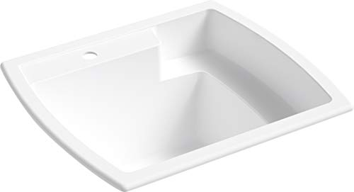 STERLING 995-0 Latitude 25-inch by 22-inch Top-mount Single Bowl Vikrell Utility Sink, White
