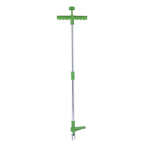 YUY Weed Puller Weeder Stand Up Unkraut Artefakt Aluminiumlegierung Pole Handwerkzeug Mit Hochfestem Fußpedal